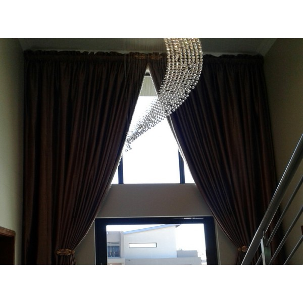 Double Volume Draped Curtains